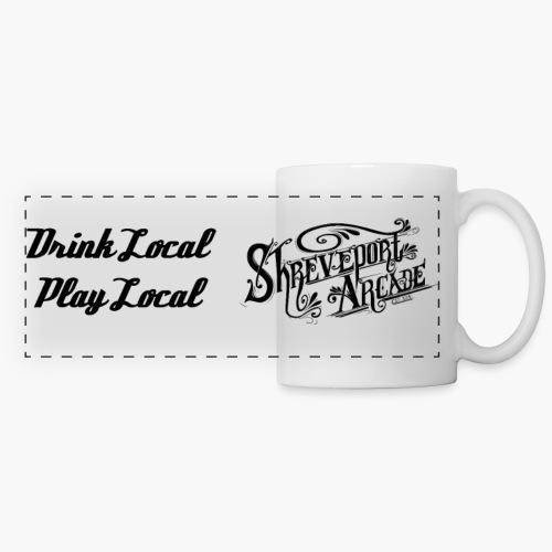 ShreveportArcadeSloganAndLogoBlack png - Panoramic Mug