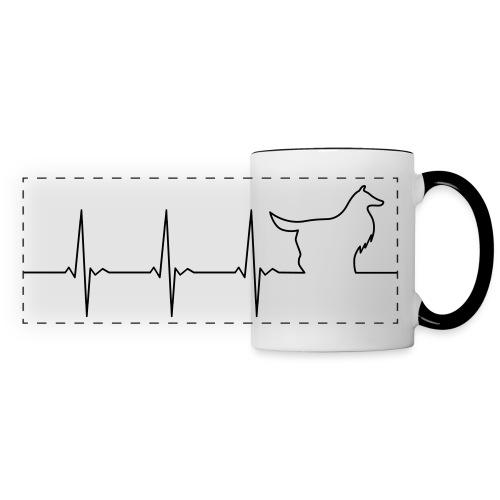 Heart Collie - Panoramic Mug