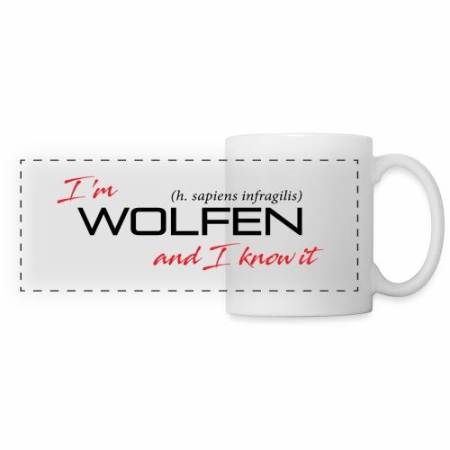 Wolfen Attitude on Light - Panoramic Mug