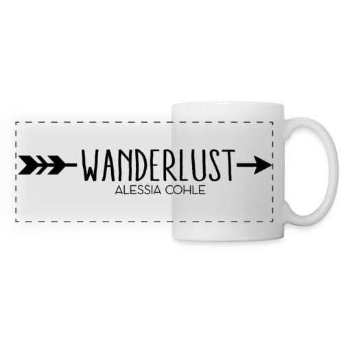 Wanderlust (black logo) - Panoramic Mug
