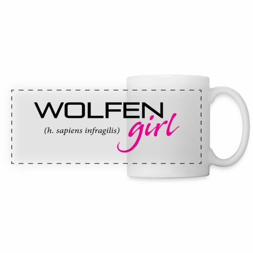Wolfen Girl on Light - Panoramic Mug