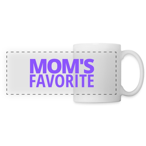 Mom's Favorite (in purple letters) - Panoramic Mug