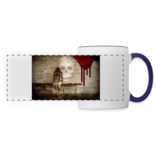 sad girl - Panoramic Mug