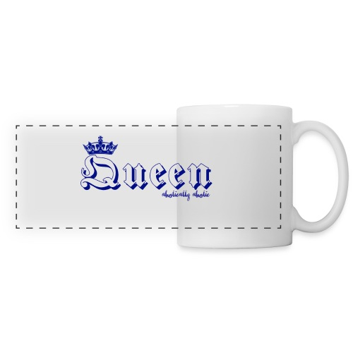 queen blue png - Panoramic Mug