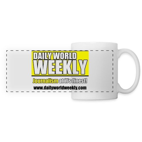 daily world weekly banner tagline web addy - Panoramic Mug