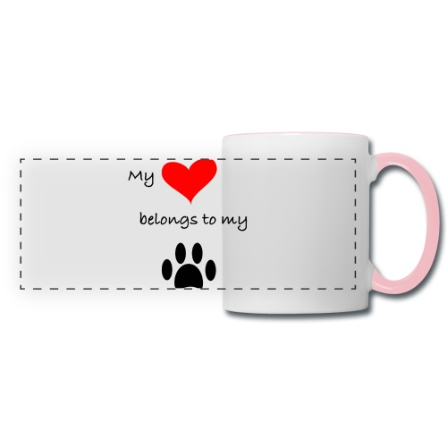 Dog Lovers shirt - My Heart Belongs to my Dog - Panoramic Mug