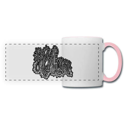 He/Him Cursive Blob - Large - Panoramic Mug