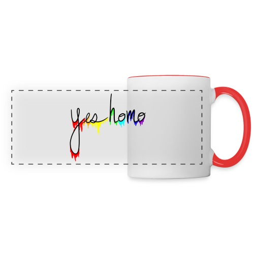 Yes Homo Rainbow Drip - Panoramic Mug