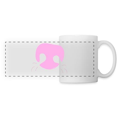 Pink Whimsical Dog Nose - Panoramic Mug