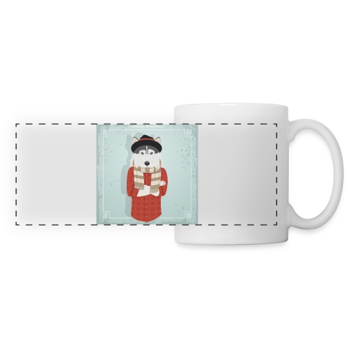 Hispter Dog - Panoramic Mug