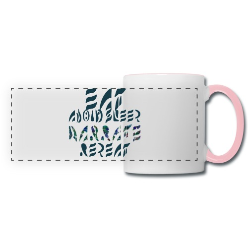 Eat Sleep Narrate Repeat - Panoramic Mug