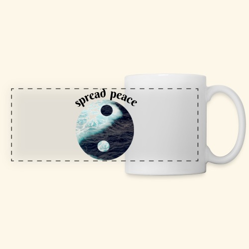 spread peace - Panoramic Mug