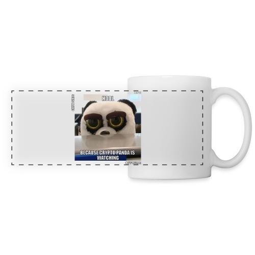 Crypto Panda Is Watching (Crypto Series) - Panoramic Mug