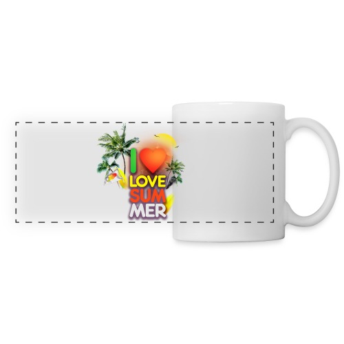 I love summer - Panoramic Mug