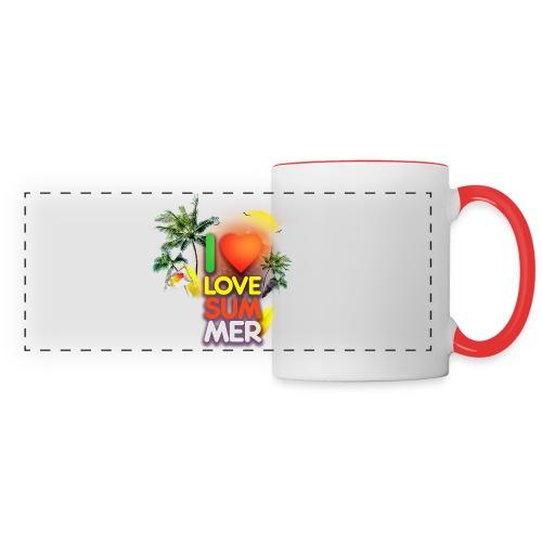 I love summer - Panoramic Mug