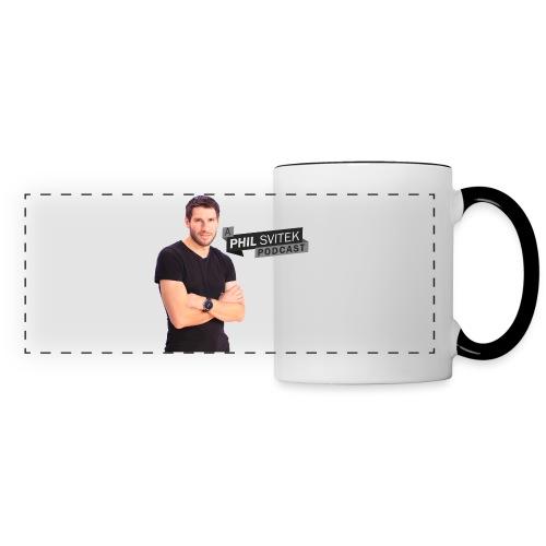 A Phil Svitek Podcast Logo FULL Design - Panoramic Mug