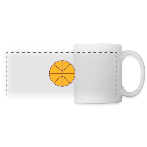 Basketball purple and gold - Panoramic Mug