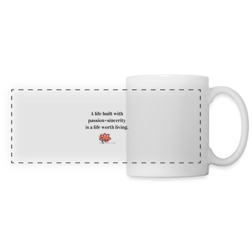 A Life Built - Do Five Things A Day - Panoramic Mug