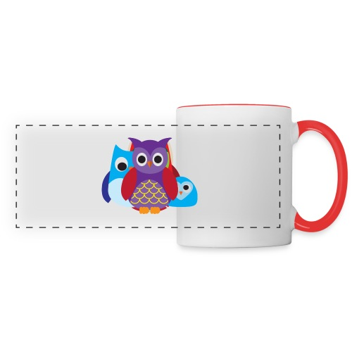 Cute Owls Eyes - Panoramic Mug