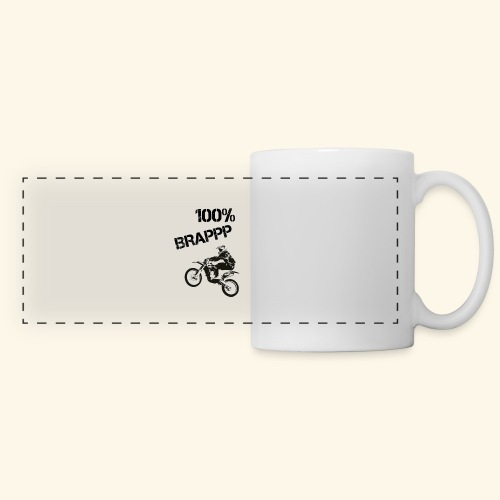 100% BRAPPP (Black and White) - Panoramic Mug