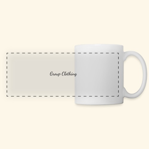 Cursive Black and White Hoodie - Panoramic Mug