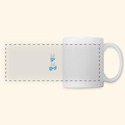 LET GO LET GOD GREY/BLUE #7 - Panoramic Mug