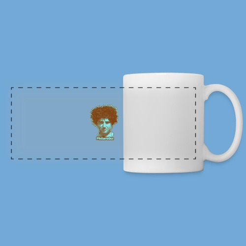 Shaggy Hair man. - Panoramic Mug