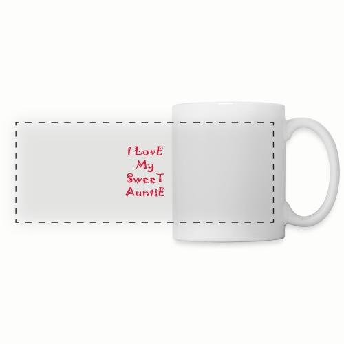 I love my sweet auntie - Panoramic Mug