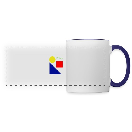 Hi I'm Ronald Seegers Collection-I Love Shapes - Panoramic Mug