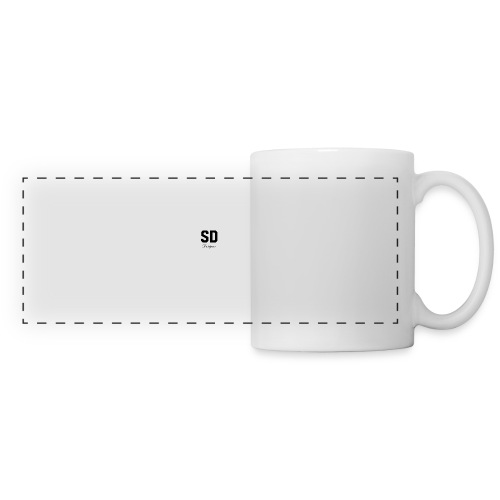 SD Designs blue, white, red/black merch - Panoramic Mug