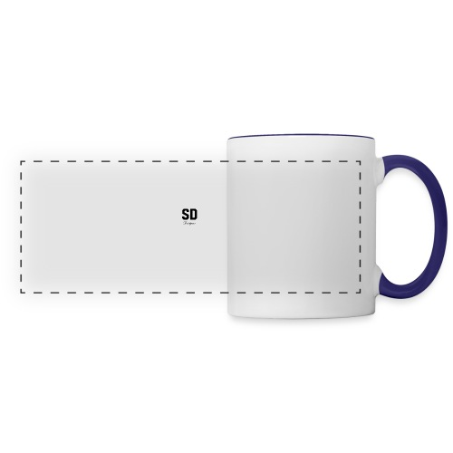SD Designs blue, white, red/black merch - Panoramic Mug