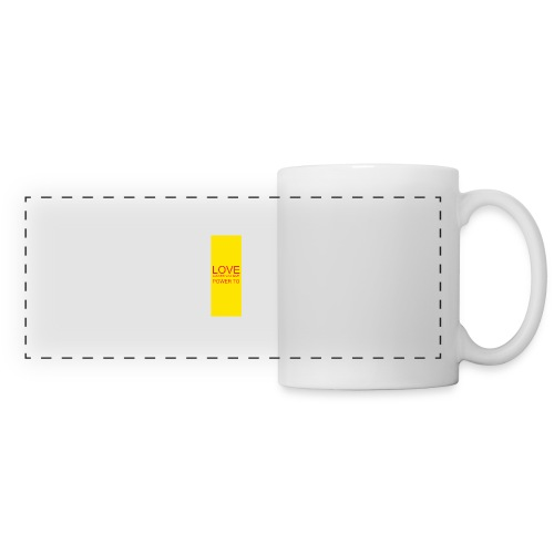 LOVE A WORD YOU GIVE POWER TO - Panoramic Mug
