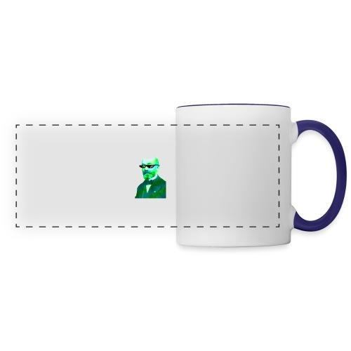 Green and Blue Zamenhof - Panoramic Mug