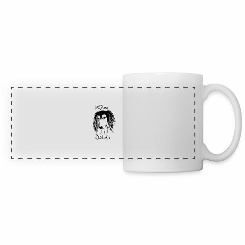 I love my saluki - Panoramic Mug