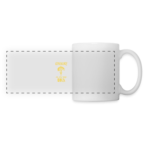 genealogy is in my dna funny birthday gift yellow - Panoramic Mug