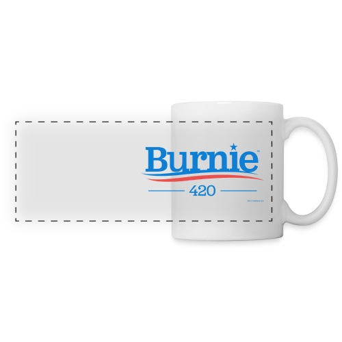 burnie-420-white-T-SHIRT - Panoramic Mug