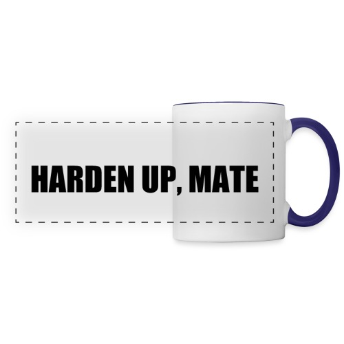 harden up black png - Panoramic Mug