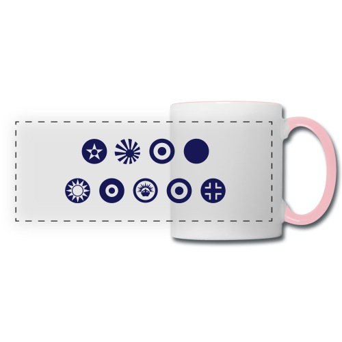Axis & Allies Country Symbols - One Color - Panoramic Mug