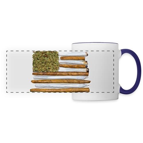 American Flag With Joint - Panoramic Mug