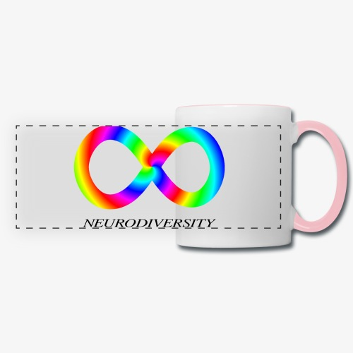 Neurodiversity with Rainbow swirl - Panoramic Mug