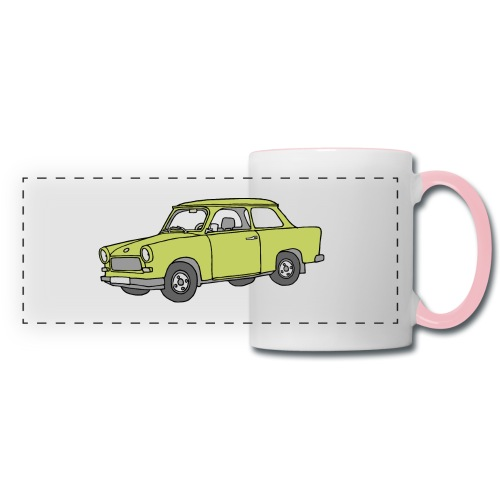 Trabant (baligreen car) - Panoramic Mug