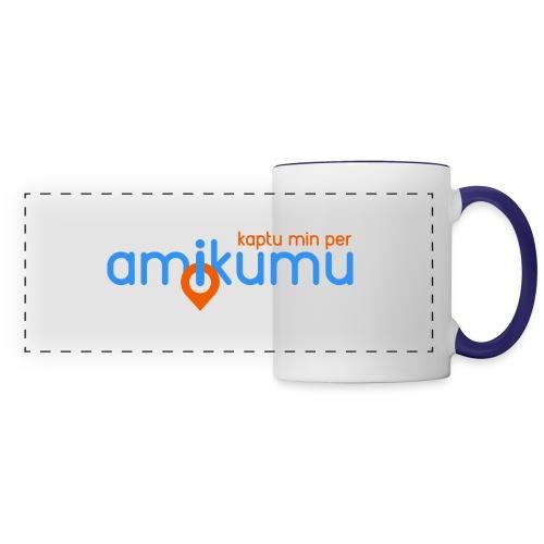 Kaptu min per Amikumu Blua - Panoramic Mug