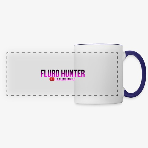 The Fluro Hunter Black And Purple Gradient - Panoramic Mug