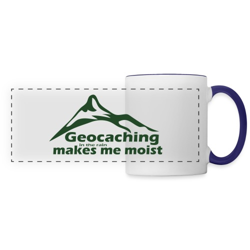 Geocaching in the Rain - Panoramic Mug