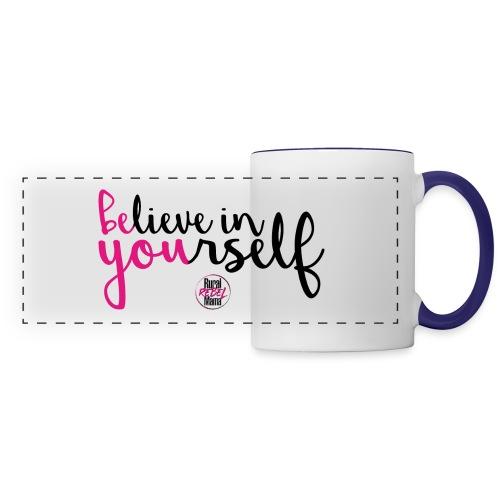 BE YOU shirt design w logo - Panoramic Mug