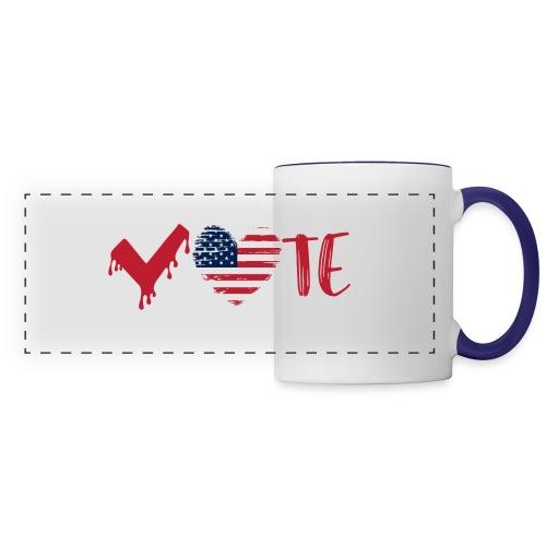 vote heart red - Panoramic Mug