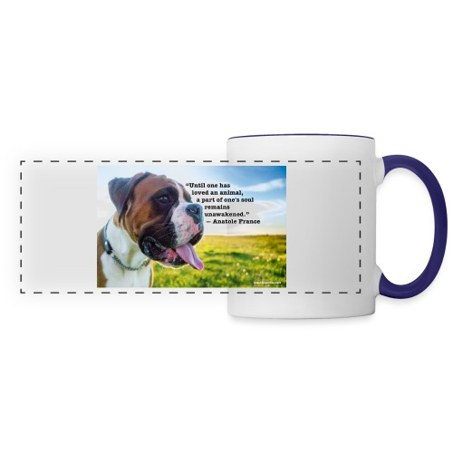 Until one has loved an animal - Panoramic Mug