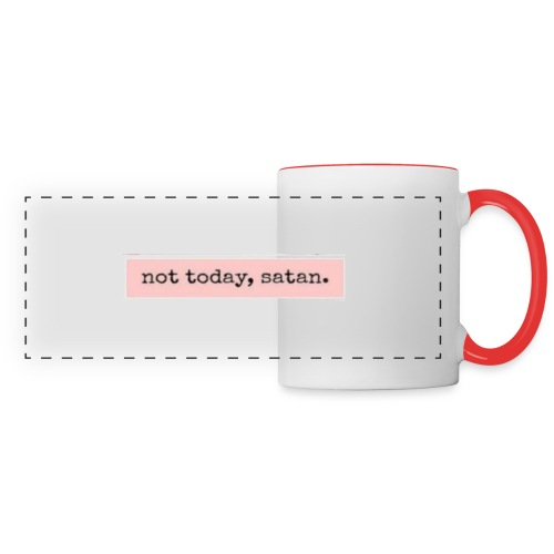 not, today satan clothing and accessories - Panoramic Mug