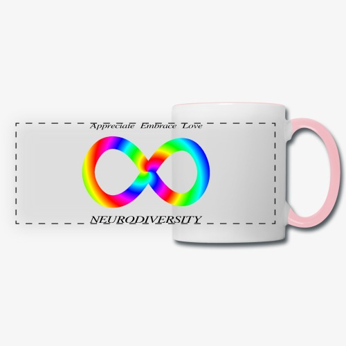 Embrace Neurodiversity with Swirl Rainbow - Panoramic Mug