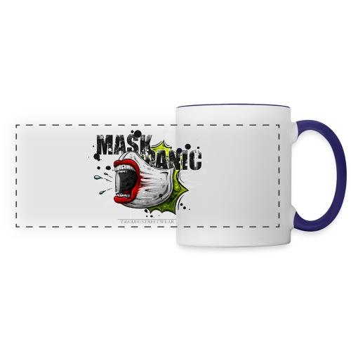 mask panic - Panoramic Mug